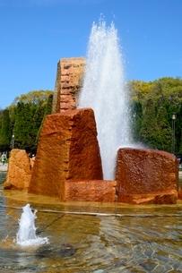 大阪城公園 噴水の写真素材 [FYI01548339]
