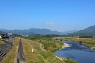 福知山,由良川の風景の写真素材 [FYI01548670]