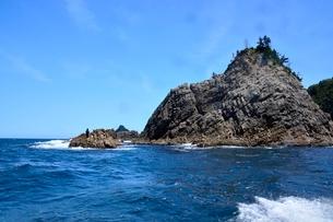 名勝,観光船で浦富海岸めぐり,太郎兵衛島の写真素材 [FYI01548739]