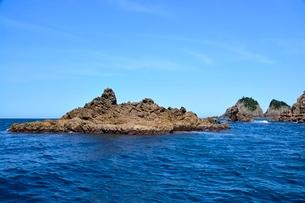 名勝,観光船で浦富海岸めぐり,観音浦,西大島の写真素材 [FYI01549288]