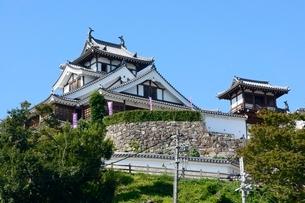 福知山城,大天守と小天守を見るの写真素材 [FYI01549516]
