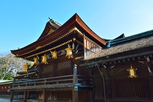 京都 北野天満宮神楽殿の写真素材 [FYI01550080]
