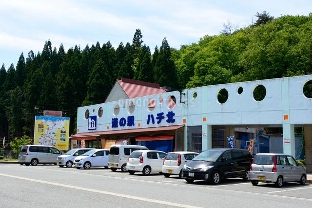 新緑の道の駅 ハチ北の写真素材 [FYI01550586]