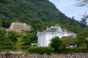 仁風閣,宝扇庵と鳥取城跡の写真素材 [FYI01551217]