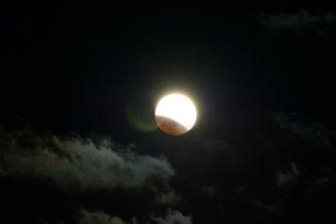 皆既月食の写真素材 [FYI01551551]