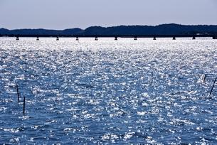 光る北浦の写真素材 [FYI01552509]