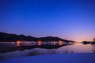 木崎湖の写真素材 [FYI01554747]