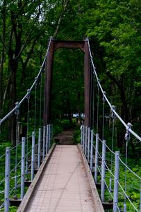 千手ヶ浜の吊り橋の写真素材 [FYI01556573]