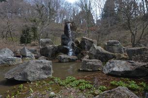 吉祥寺 鎌倉建長寺を本山とする臨済宗の禅寺にある丈六の滝の写真素材 [FYI01556809]