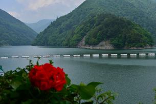 奈川渡ダムの写真素材 [FYI01557550]