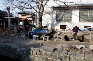 江戸後期の測量学者 伊能忠敬記念館発掘調査の写真素材 [FYI01557819]