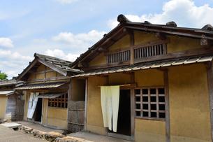一乗朝倉氏遺跡の再建された町並みの写真素材 [FYI01558143]