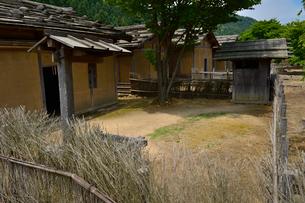 一乗朝倉氏遺跡の再建された町並みの写真素材 [FYI01558176]