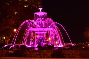 州議事堂前の噴水ライトアップの写真素材 [FYI01558378]