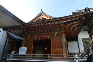 葛飾八幡神社の大神楽殿の写真素材 [FYI01558569]