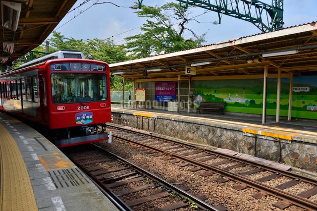 箱根登山電車の写真素材 [FYI01559378]