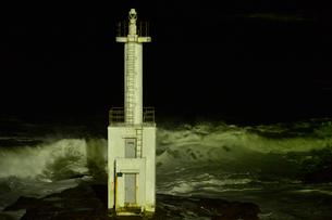 大洗海岸の波しぶきの写真素材 [FYI01559391]