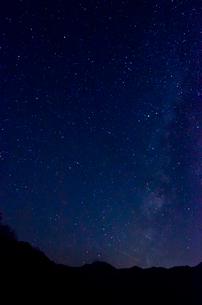 銀山平から見た天の川と星群の写真素材 [FYI01559997]
