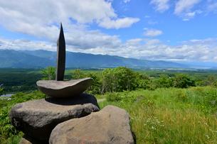 富士見高原創造の森彫刻公園の作品の写真素材 [FYI01560045]