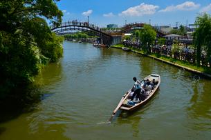 潮来あやめ祭り会場のろ舟の写真素材 [FYI01560055]