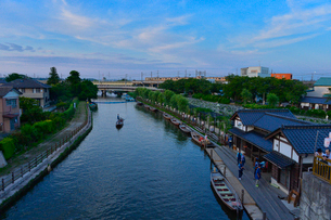 潮来あやめ祭り会場のろ舟の写真素材 [FYI01560076]