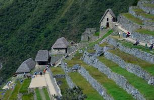 マチュピチュ遺跡の段々畑((アンデネス)跡と貯蔵庫等の写真素材 [FYI01560626]