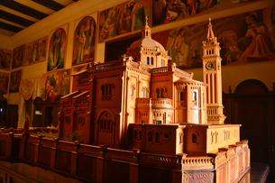タ・ピヌ聖所の模型の写真素材 [FYI01560797]