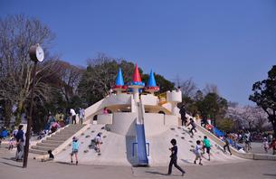 徳川吉宗が享保の改革としてサクラを植えた飛鳥山公園にある遊具の写真素材 [FYI01560816]