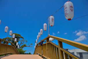 潮来あやめ祭り会場のあやめ橋の写真素材 [FYI01561097]