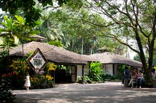 国立ラン植物園入口の写真素材 [FYI01561113]