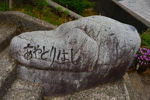 あやとり橋の碑の写真素材 [FYI01561338]