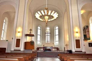 スオメンリンナ教会内部の写真素材 [FYI01561420]