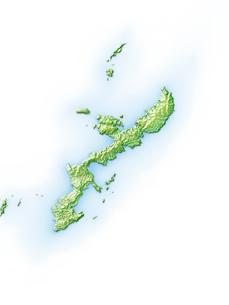 沖縄島周辺地図のイラスト素材 [FYI01561645]