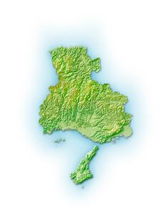兵庫県地図のイラスト素材 [FYI01561670]