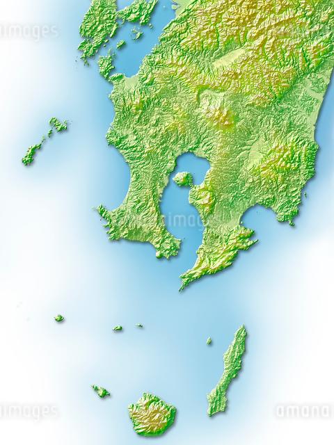 鹿児島県地図のイラスト素材 [FYI01561735]