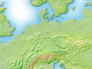 ドイツ周辺地図のイラスト素材 [FYI01561768]