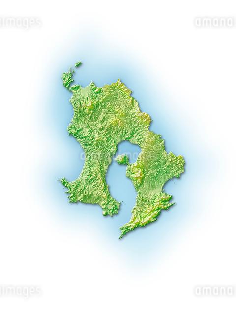 鹿児島県地図のイラスト素材 [FYI01561773]