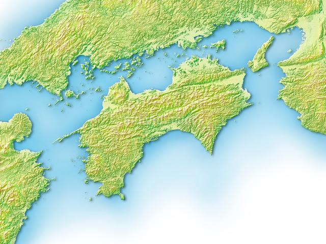 四国地方のイラスト素材 [FYI01561883]