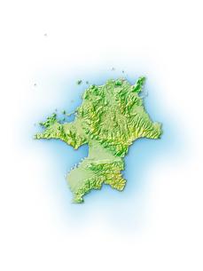 福岡県地図のイラスト素材 [FYI01561901]