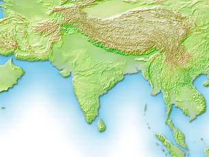 インド周辺地図のイラスト素材 [FYI01562040]