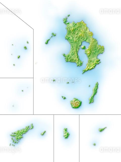 鹿児島県大隅諸島地図のイラスト素材 [FYI01562081]