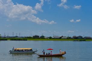 潮来あやめ祭りの嫁入り舟の写真素材 [FYI01562084]