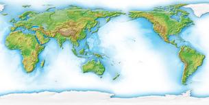 世界地図白背景のイラスト素材 [FYI01562126]