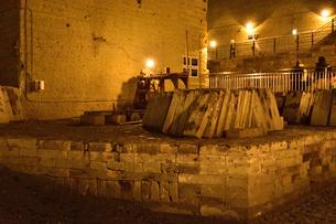 大谷資料館にある大谷石の展示の写真素材 [FYI01562236]