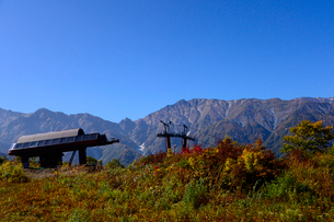 白馬五竜高山植物園行きゴンドラリフトの写真素材 [FYI01562285]