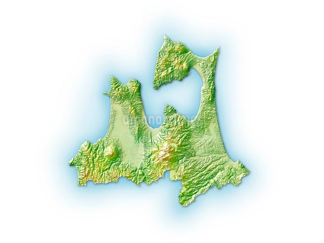 青森県地図のイラスト素材 [FYI01562492]
