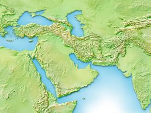 中近東周辺地図のイラスト素材 [FYI01562527]