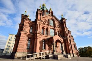 北欧最大規模ロシア正教会のウスペンスキー寺院の写真素材 [FYI01562559]
