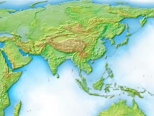 ユーラシア大陸アジアのイラスト素材 [FYI01562578]