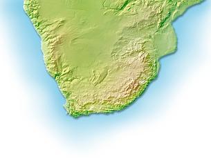 南アフリカ周辺地図のイラスト素材 [FYI01562730]